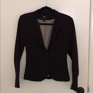 H&M Red and Black Blazer